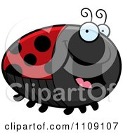 Clipart Chubby Happy Ladybug Royalty Free Vector Illustration by Cory Thoman