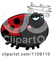 Clipart Chubby Drunk Ladybug Royalty Free Vector Illustration by Cory Thoman