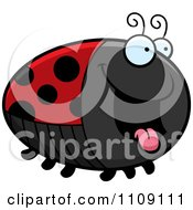 Clipart Chubby Hungry Ladybug Royalty Free Vector Illustration by Cory Thoman