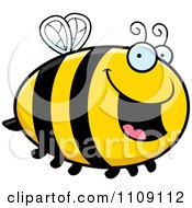 Clipart Chubby Happy Bee Royalty Free Vector Illustration by Cory Thoman