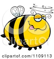 Clipart Chubby Drunk Bee Royalty Free Vector Illustration