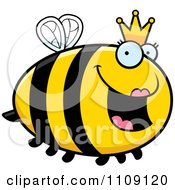 Clipart Chubby Queen Bee Royalty Free Vector Illustration by Cory Thoman
