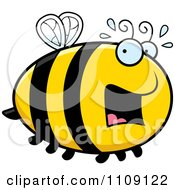 Clipart Chubby Scared Bee Royalty Free Vector Illustration