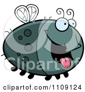 Clipart Chubby Hungry Fly Royalty Free Vector Illustration