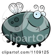Clipart Chubby Smiling Fly Royalty Free Vector Illustration by Cory Thoman