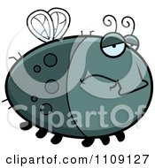 Clipart Chubby Depressed Fly Royalty Free Vector Illustration