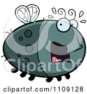 Clipart Chubby Scared Fly Royalty Free Vector Illustration