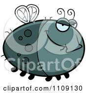 Clipart Chubby Sly Fly Royalty Free Vector Illustration