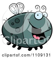 Clipart Chubby Happy Fly Royalty Free Vector Illustration