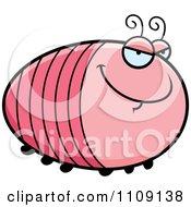 Clipart Chubby Sly Grub Royalty Free Vector Illustration