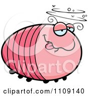 Clipart Chubby Drunk Grub Royalty Free Vector Illustration