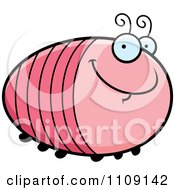 Clipart Chubby Smiling Grub Royalty Free Vector Illustration