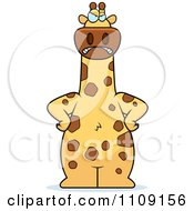 Clipart Angry Giraffe Royalty Free Vector Illustration