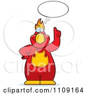 Clipart Phoenix Bird Talking Royalty Free Vector Illustration