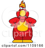 Clipart Angry Phoenix Bird Royalty Free Vector Illustration