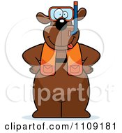 Clipart Dog In Scuba Gear Royalty Free Vector Illustration