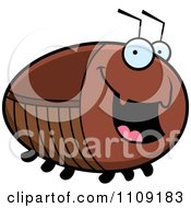 Clipart Chubby Happy Cockroach Royalty Free Vector Illustration