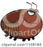 Clipart Chubby Sly Cockroach Royalty Free Vector Illustration