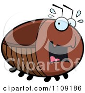 Clipart Chubby Scared Cockroach Royalty Free Vector Illustration