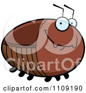 Clipart Chubby Smiling Cockroach Royalty Free Vector Illustration