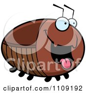 Clipart Chubby Hungry Cockroach Royalty Free Vector Illustration