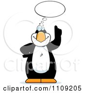 Clipart Penguin With An Idea Royalty Free Vector Illustration by Cory Thoman