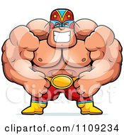 Clipart Strong Luchador Wrestler Royalty Free Vector Illustration