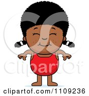 Clipart Happy Black Girl In A Bathing Suit Royalty Free Vector Illustration by Cory Thoman
