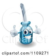 Poster, Art Print Of Happy 3d Compact Screwdriver Character Holding Two Thumbs Up
