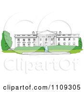 Clipart The White House Facade In Washington DC Royalty Free Vector Illustration