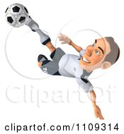 Clipart 3d White German Soccer Player 2 Royalty Free CGI Illustration