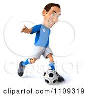 Clipart 3d White Italian Soccer Player 1 Royalty Free CGI Illustration