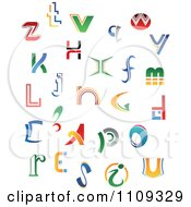 Clipart Abstract Colorful Letters A Through Z 6 Royalty Free Vector Illustration
