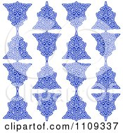 Clipart Seamless Blue Celtic Knot Pattern Background On White Royalty Free Vector Illustration