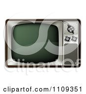 Clipart 3d Retro Box Television Royalty Free Vector Illustration