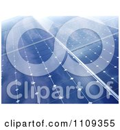 Clipart 3d Photovoltaic Panels Creating Solar Energy Royalty Free CGI Illustration
