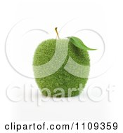 Clipart 3d Grassy Green Apple Royalty Free CGI Illustration by Mopic