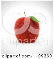 Clipart 3d Grassy Red Apple Royalty Free CGI Illustration