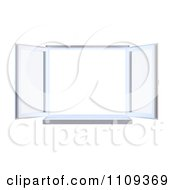 Clipart 3d Paneled Window Wide Open Royalty Free CGI Illustration by Mopic