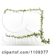 Clipart 3d Green Branch Forming A Frame Royalty Free CGI Illustration