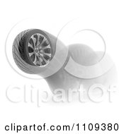 Clipart 3d Car Tire Bouncing Royalty Free CGI Illustration by Mopic