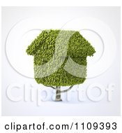 3d Tree With House Shaped Foliage