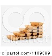 3d Gold Bullion Bars Forming Steps