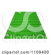 Clipart 3d Soccer Field Royalty Free CGI Illustration