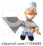 3d Chef Holding Out An Envelope