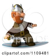 Clipart 3d Viking Surfing 1 Royalty Free CGI Illustration by Julos