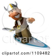 Clipart 3d Viking Surfing 2 Royalty Free CGI Illustration by Julos