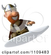 Clipart 3d Viking Surfing 3 Royalty Free CGI Illustration by Julos
