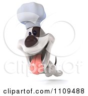 Clipart 3d Jack Russell Terrier Chef Dog Running Royalty Free CGI Illustration