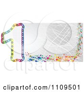 Clipart Colorful Number 1 Banner With Scratches Royalty Free Vector Illustration